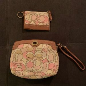 Authentic Coach Wallet and Card Holder